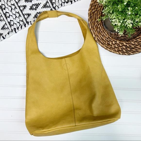 Handbags - Mustard Yellow one strap Shoulder Bag